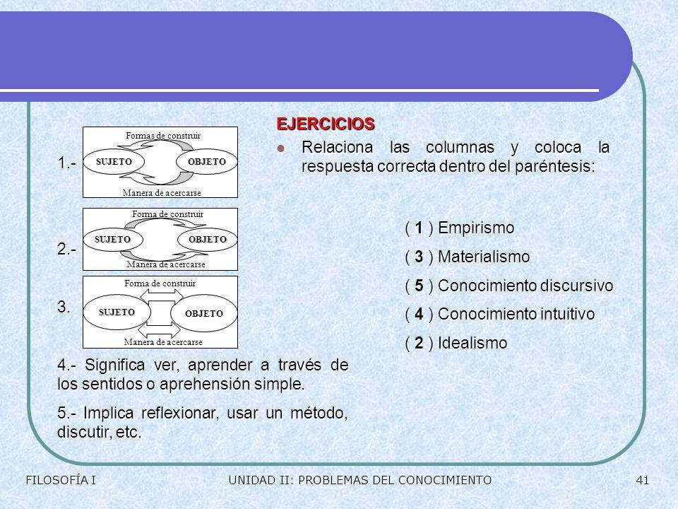 5.- Implica reflexionar, usar un método, discutir, etc.