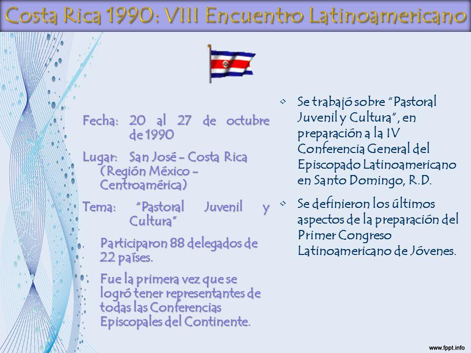 Costa Rica 1990: VIII Encuentro Latinoamericano