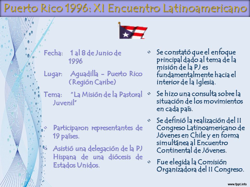 Puerto Rico 1996: XI Encuentro Latinoamericano