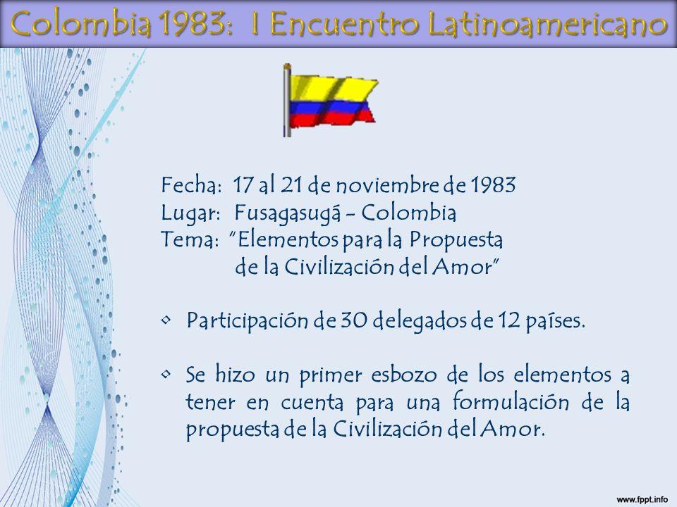 Colombia 1983: I Encuentro Latinoamericano