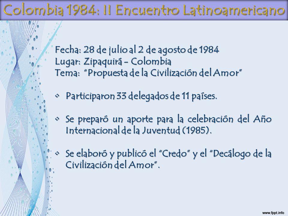 Colombia 1984: II Encuentro Latinoamericano