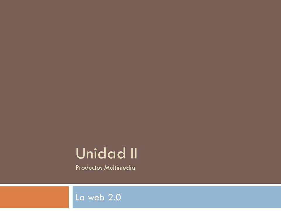 Unidad II Productos Multimedia
