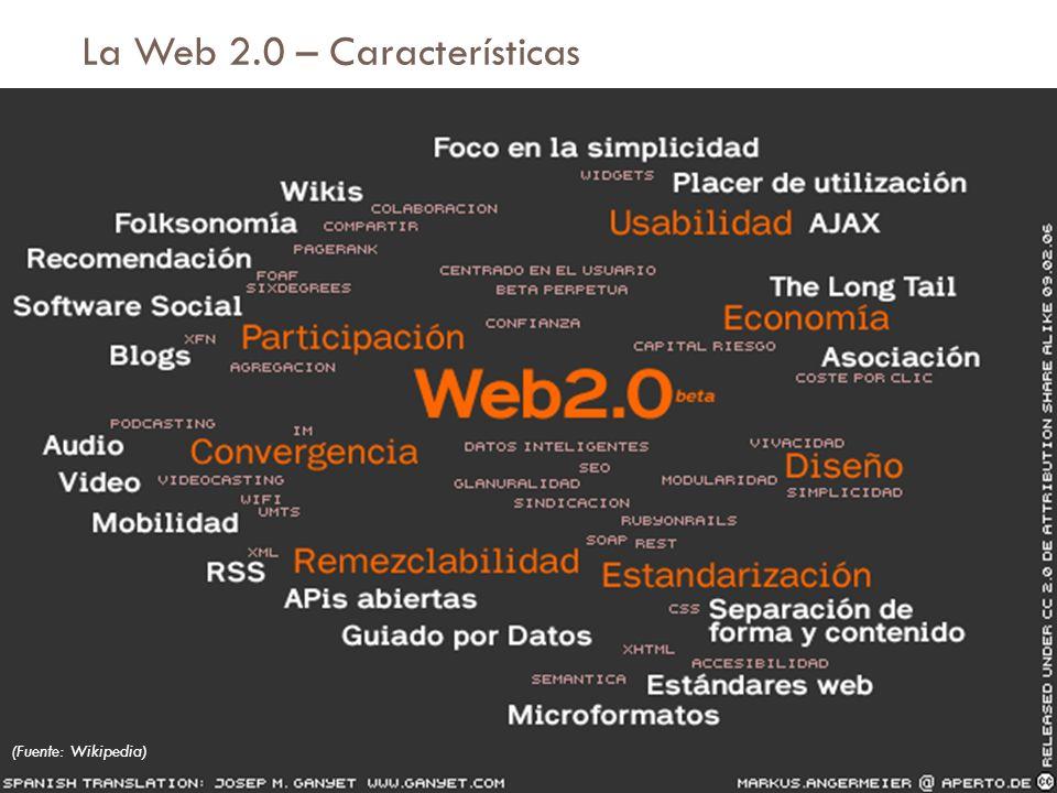 La Web 2.0 – Características