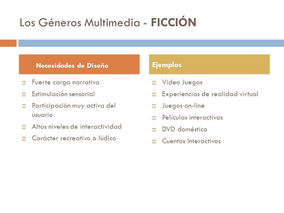 Los Géneros Multimedia - FICCIÓN
