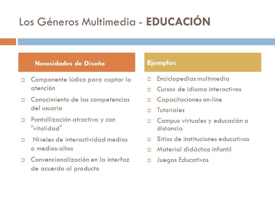 Los Géneros Multimedia - EDUCACIÓN