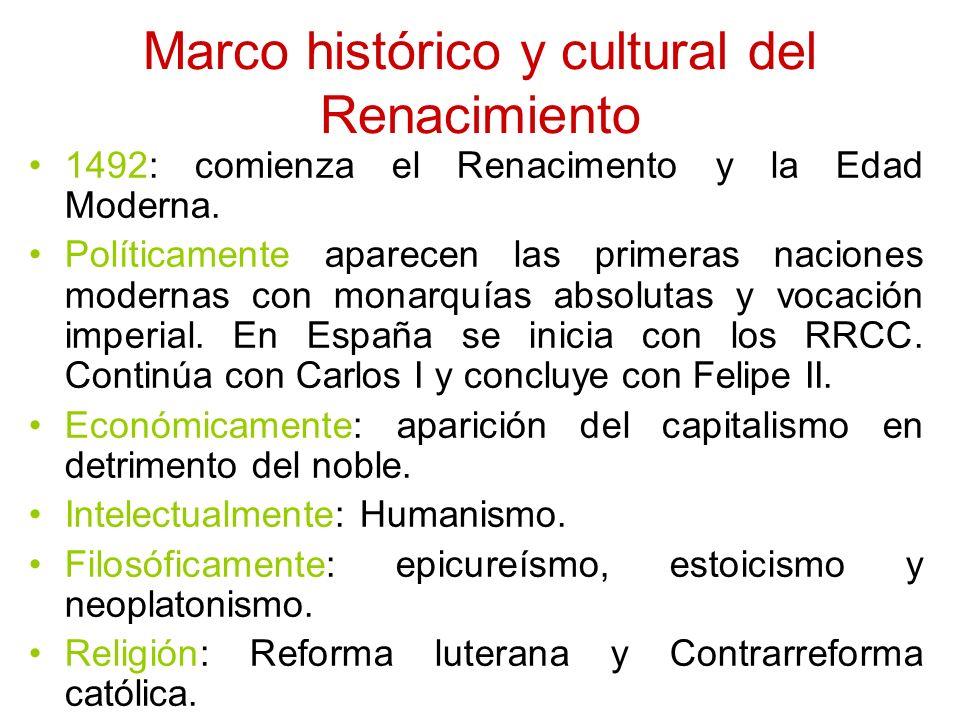Marco histórico y cultural del Renacimiento