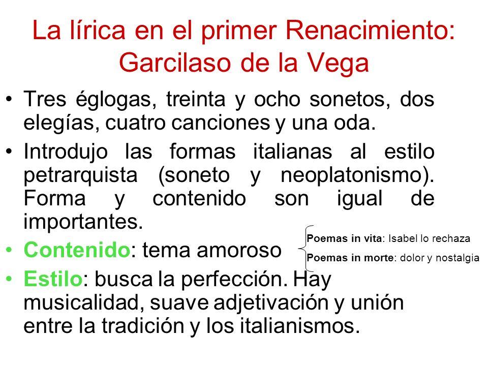La lírica en el primer Renacimiento: Garcilaso de la Vega