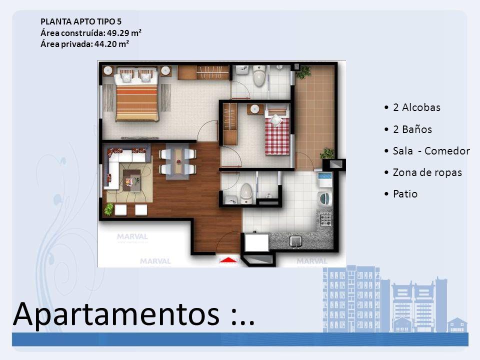 Apartamentos :.. 2 Alcobas 2 Baños Sala - Comedor Zona de ropas Patio