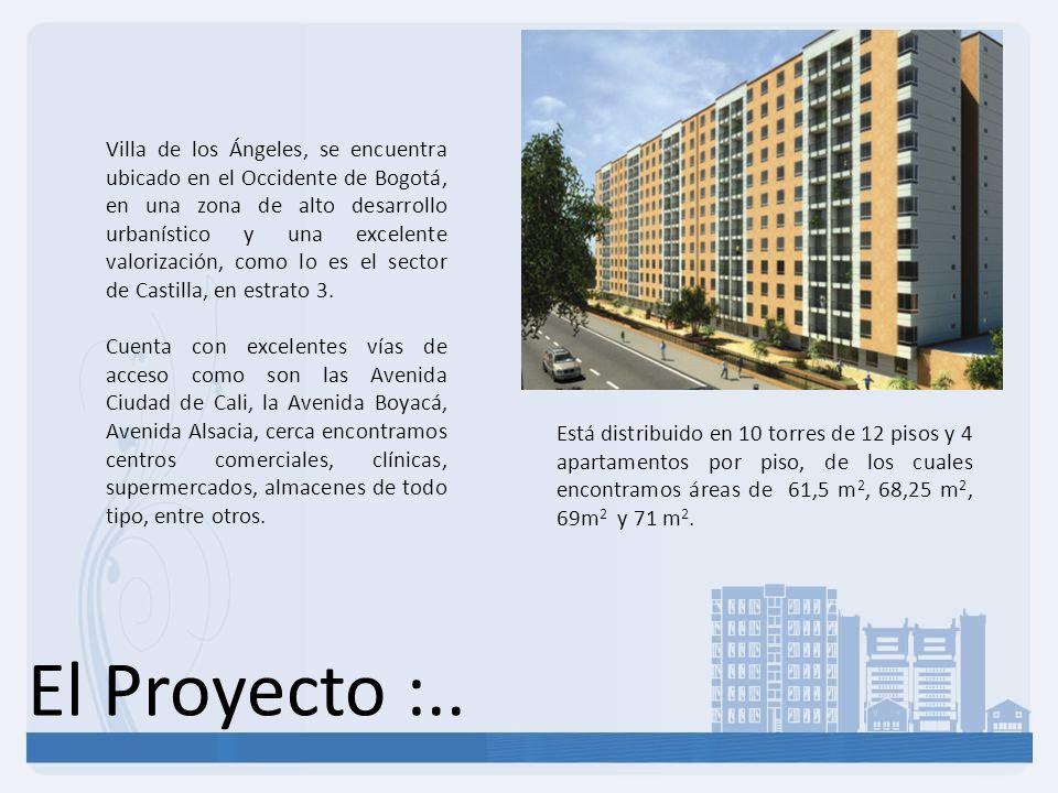 Villa de los Ángeles, se encuentra ubicado en el Occidente de Bogotá, en una zona de alto desarrollo urbanístico y una excelente valorización, como lo es el sector de Castilla, en estrato 3.