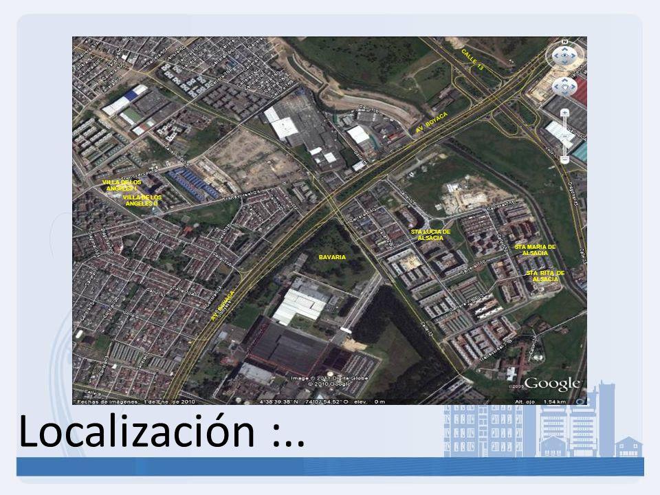 Localización :.. CALLE 13 AV. BOYACA VILLA DE LOS ANGELES I