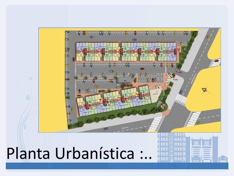 Planta Urbanística :.. T-06 T-05 T-04 T-03 T-02 T-01 T-10 T-09 T-08
