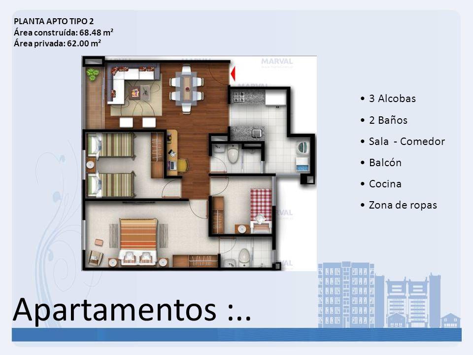 Apartamentos :.. 3 Alcobas 2 Baños Sala - Comedor Balcón Cocina