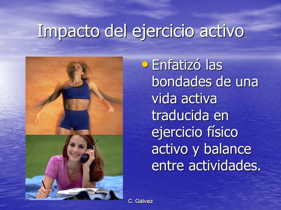 Impacto del ejercicio activo