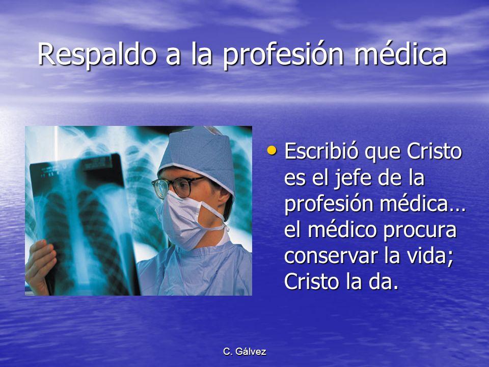 Respaldo a la profesión médica