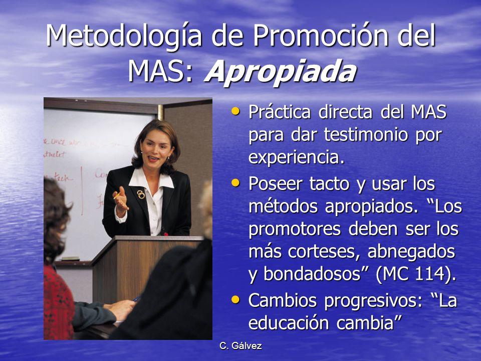 Metodología de Promoción del MAS: Apropiada