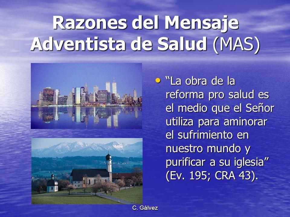 Razones del Mensaje Adventista de Salud (MAS)