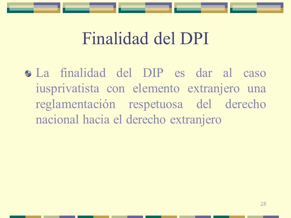 Finalidad del DPI