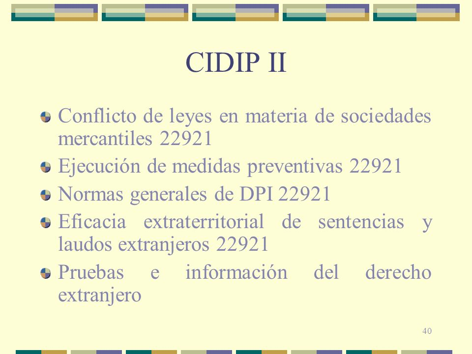 CIDIP II Conflicto de leyes en materia de sociedades mercantiles 22921