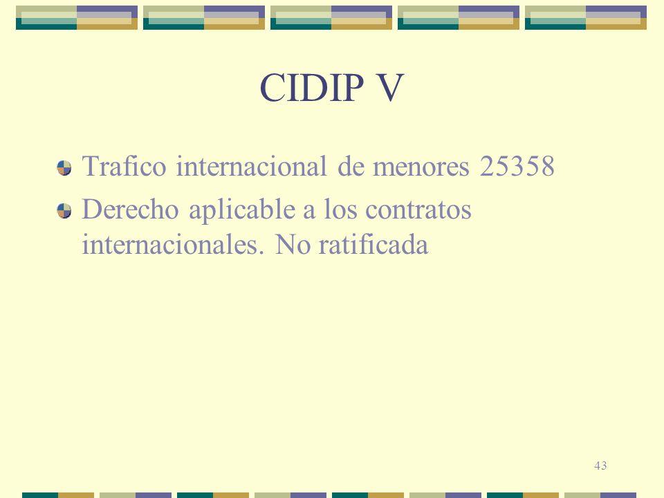 CIDIP V Trafico internacional de menores 25358