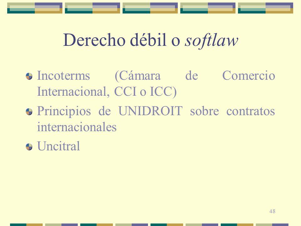 Derecho débil o softlaw