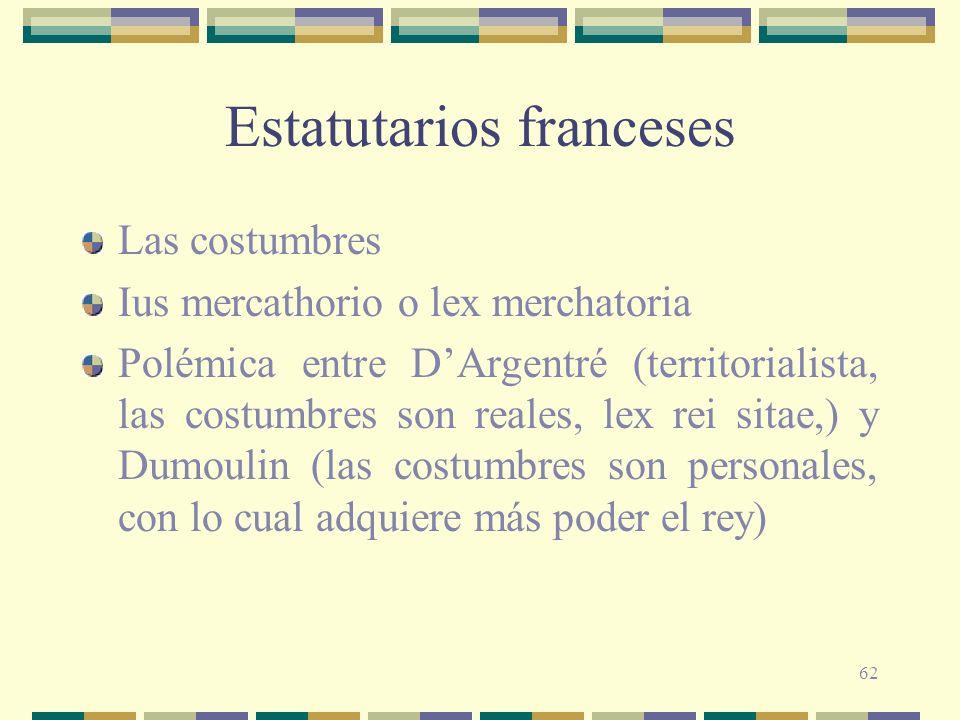 Estatutarios franceses