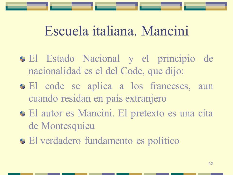Escuela italiana. Mancini