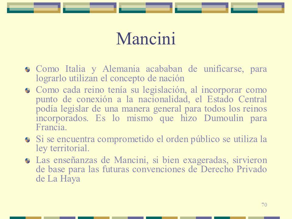 Mancini Como Italia y Alemania acababan de unificarse, para lograrlo utilizan el concepto de nación.