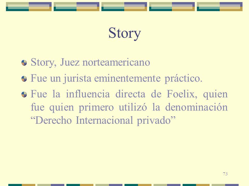 Story Story, Juez norteamericano
