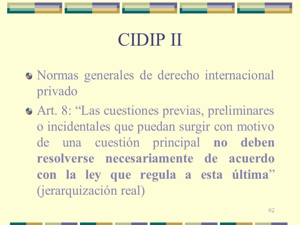 CIDIP II Normas generales de derecho internacional privado