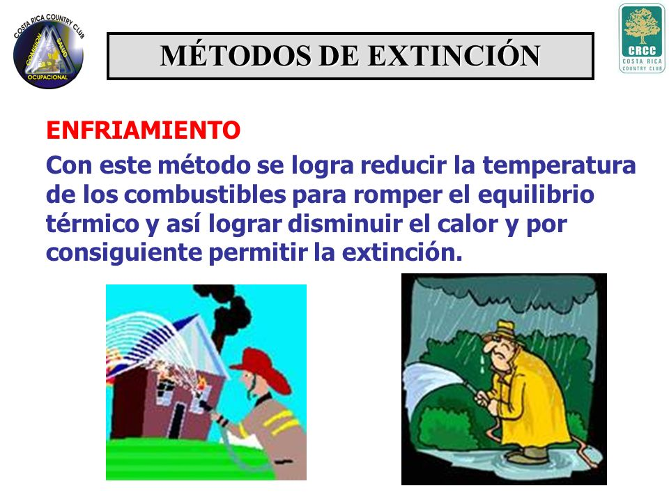 MÉTODOS DE EXTINCIÓN ENFRIAMIENTO