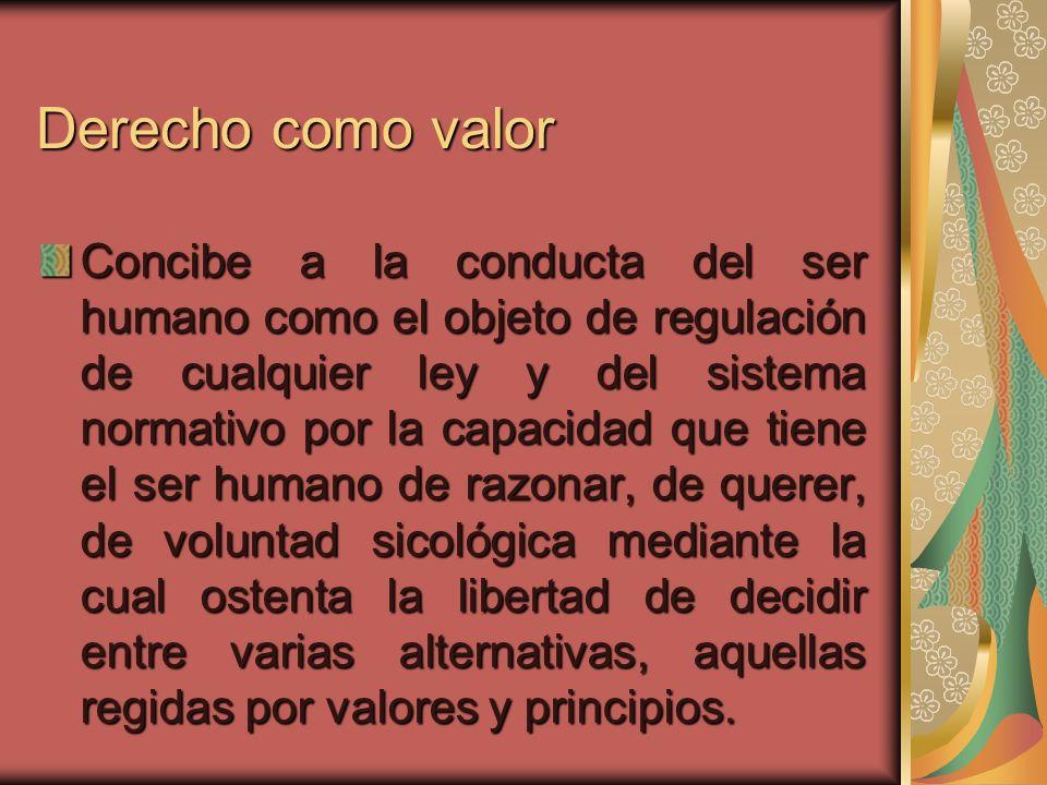 Derecho como valor