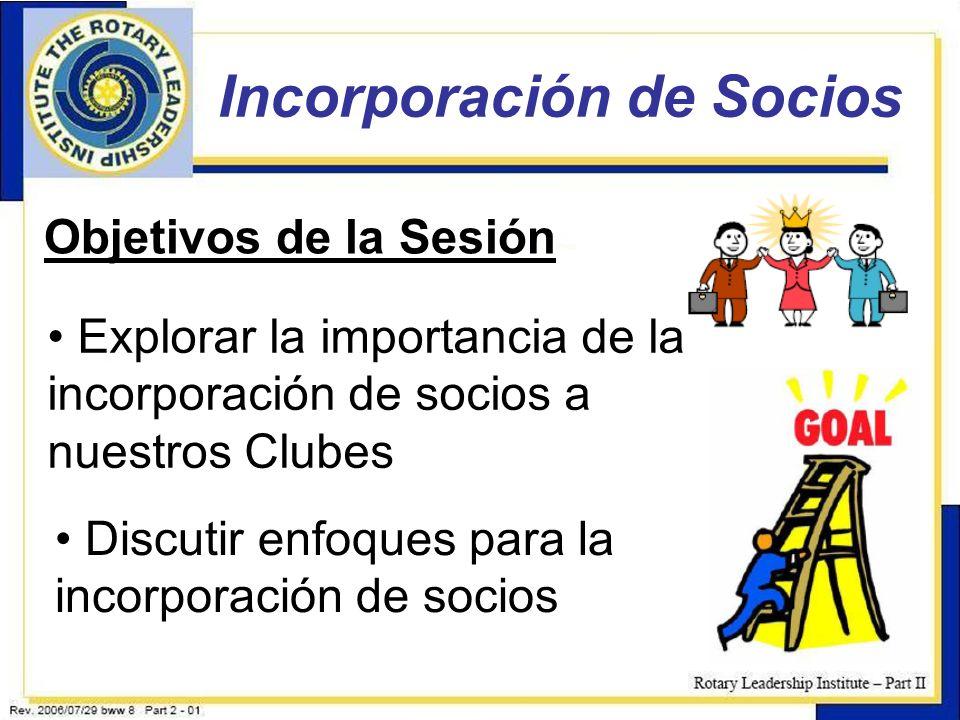 Incorporación de Socios