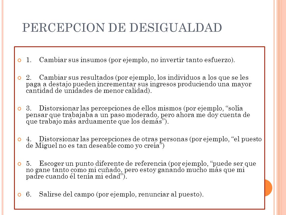 PERCEPCION DE DESIGUALDAD