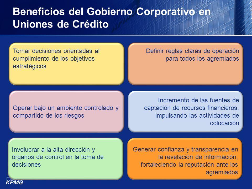 Beneficios del Gobierno Corporativo en Uniones de Crédito