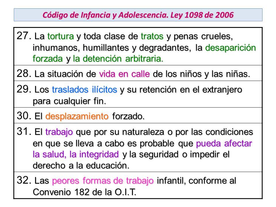 Código de Infancia y Adolescencia. Ley 1098 de 2006