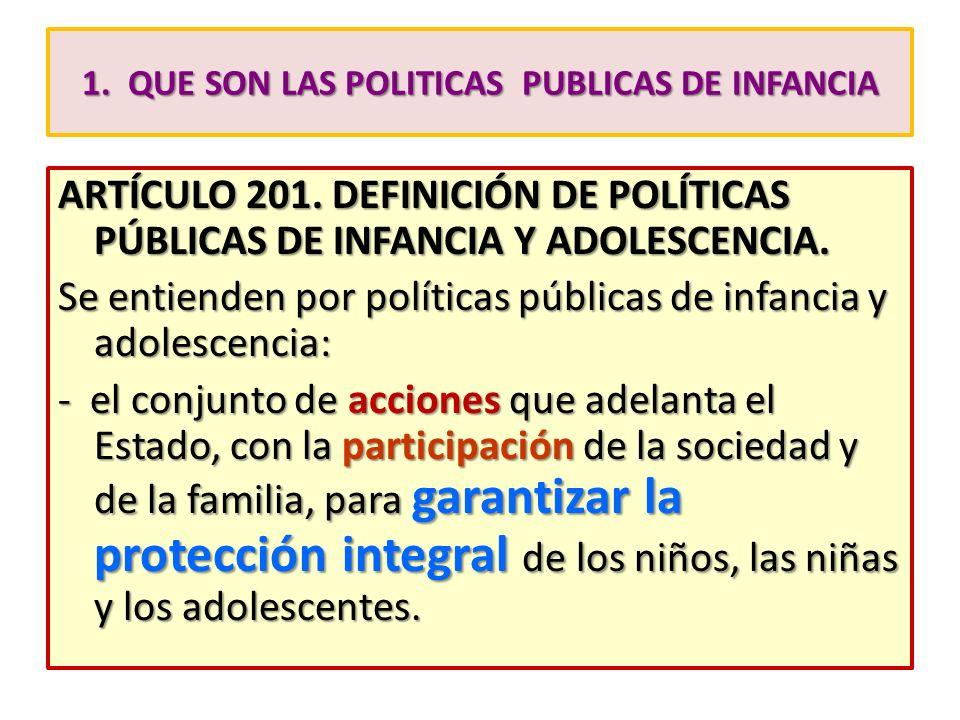 1. QUE SON LAS POLITICAS PUBLICAS DE INFANCIA