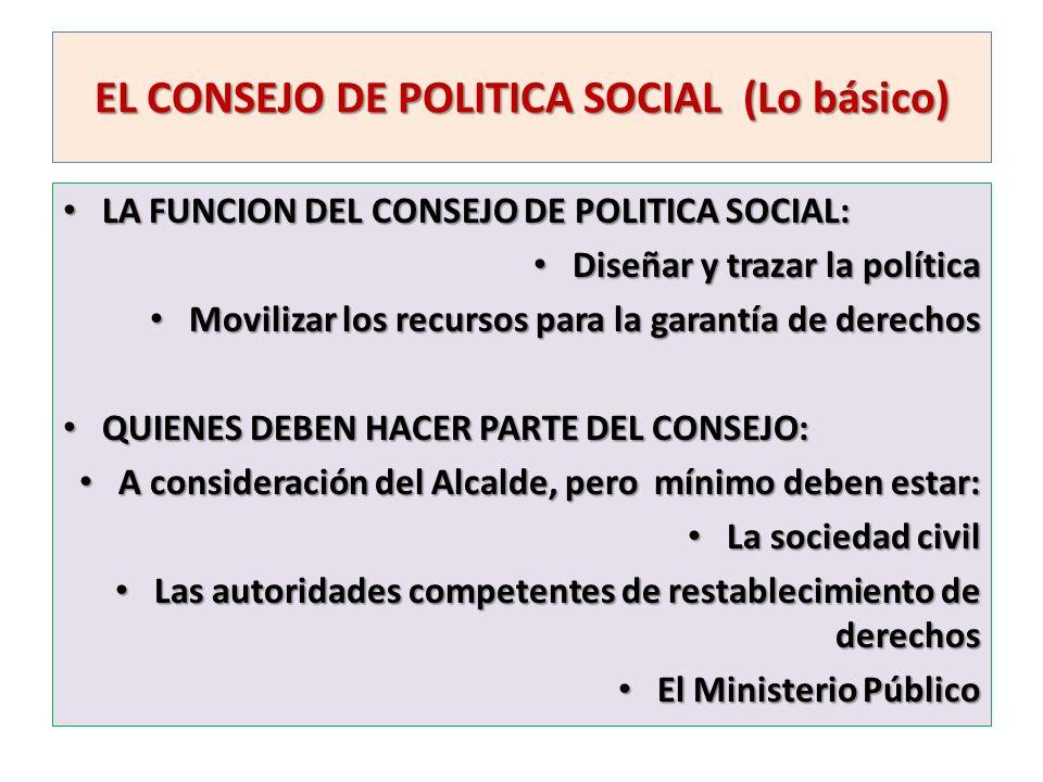 EL CONSEJO DE POLITICA SOCIAL (Lo básico)