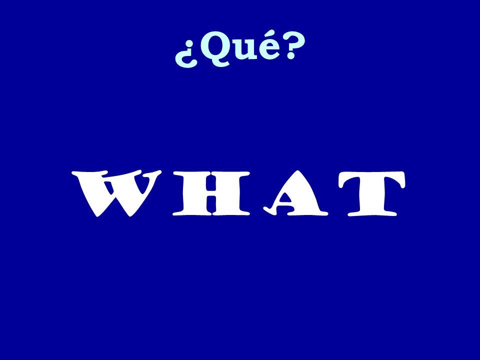 ¿Qué what