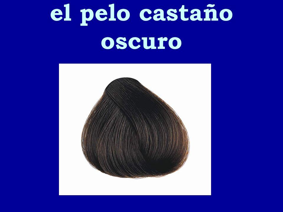 el pelo castaño oscuro