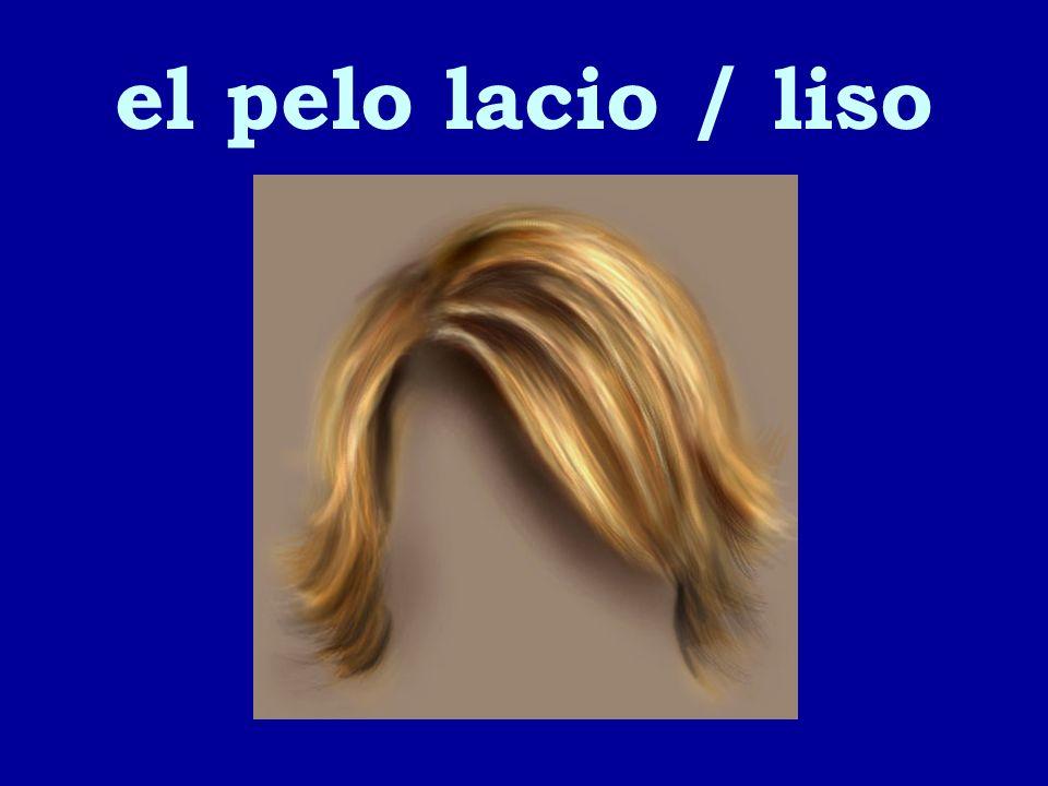 el pelo lacio / liso