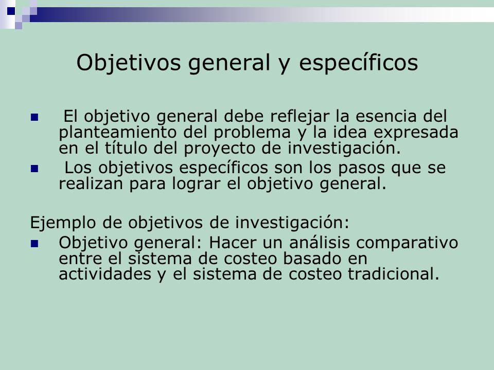 Como hago los objetivos generales y objetivos especificos for Objetivo general de un vivero