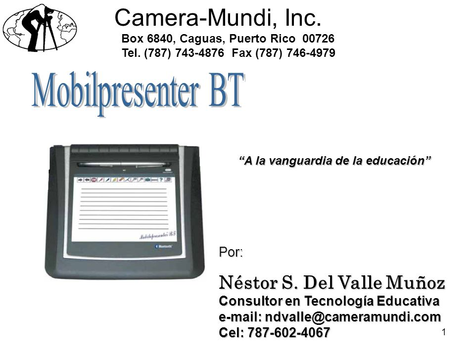 Camera-Mundi, Inc. Mobilpresenter BT