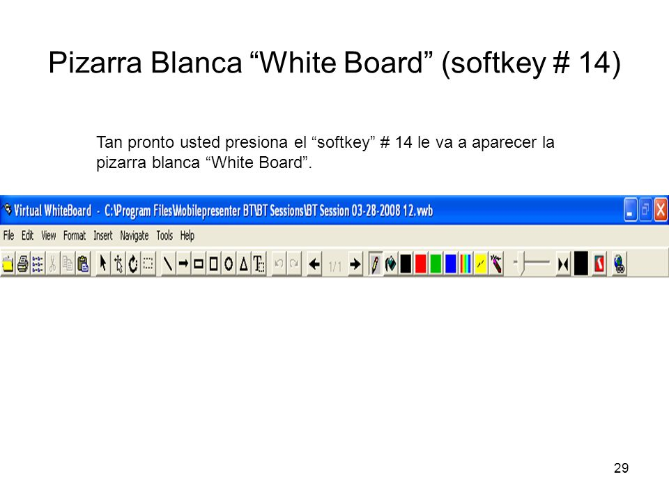 Pizarra Blanca White Board (softkey # 14)