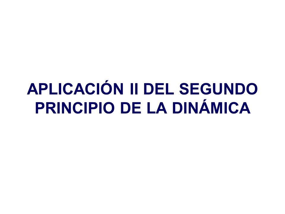 APLICACIÓN II DEL SEGUNDO PRINCIPIO DE LA DINÁMICA
