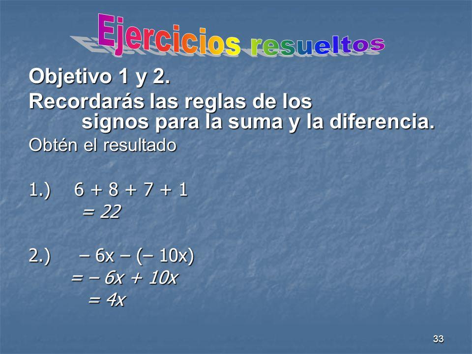 Ejercicios resueltos Objetivo 1 y 2.