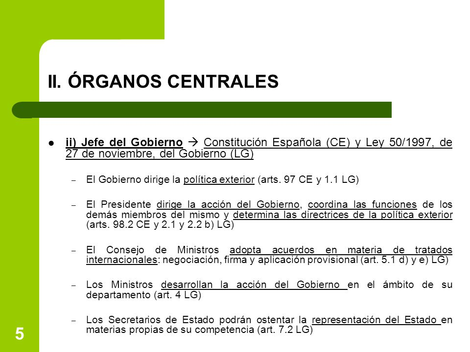 Tema 4 los rganos del estado para las relaciones for Accion educativa espanola en el exterior