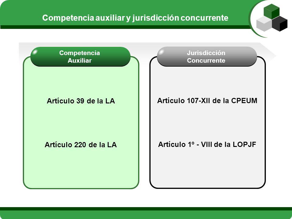Competencia auxiliar y jurisdicción concurrente