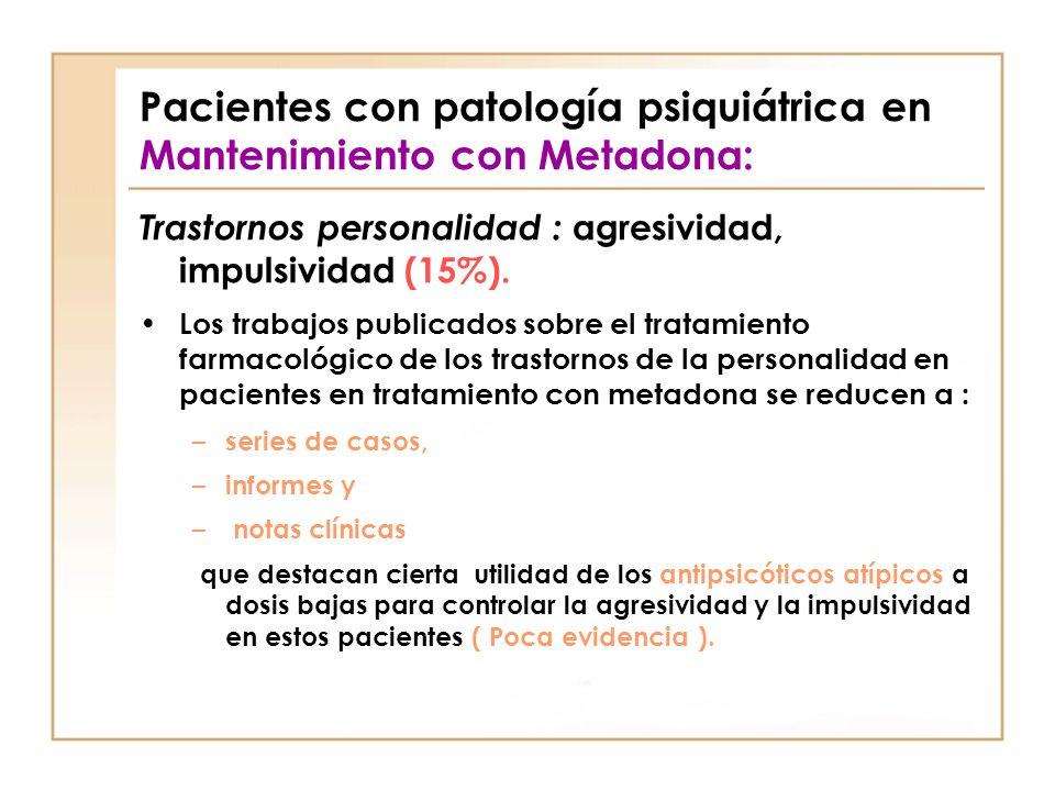 Pacientes con patología psiquiátrica en Mantenimiento con Metadona: