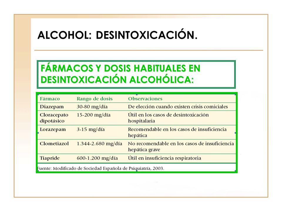 ALCOHOL: DESINTOXICACIÓN.
