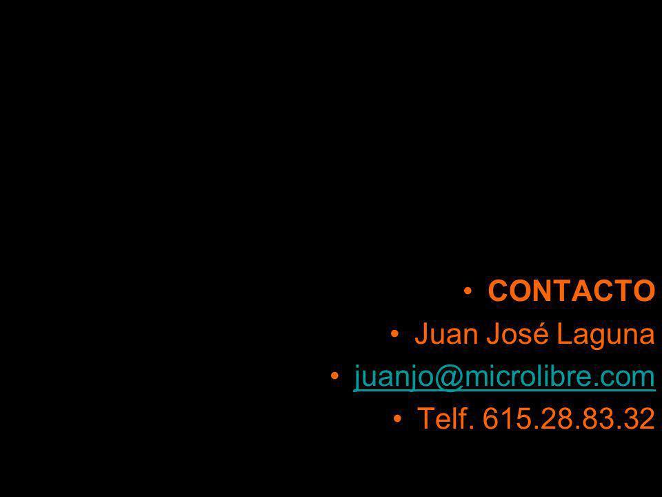 CONTACTO Juan José Laguna juanjo@microlibre.com Telf. 615.28.83.32